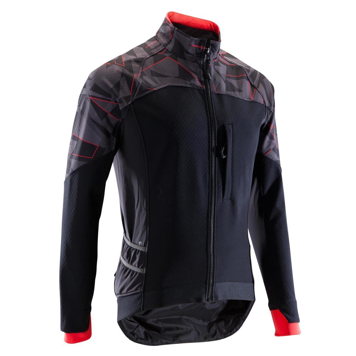 Bild 1 von MTB-Fahrradjacke ST 500 Herren schwarz/neonrot
