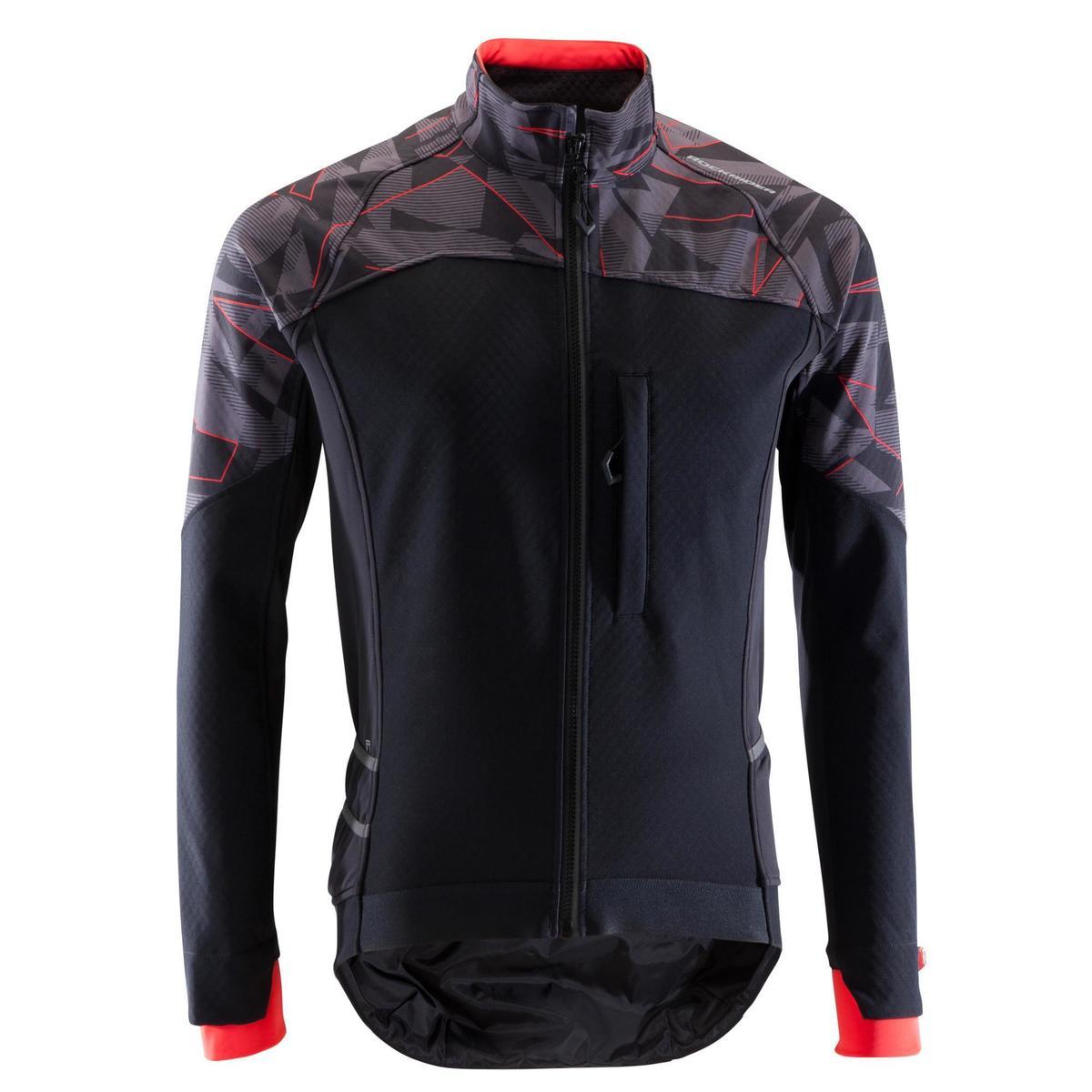Bild 2 von MTB-Fahrradjacke ST 500 Herren schwarz/neonrot