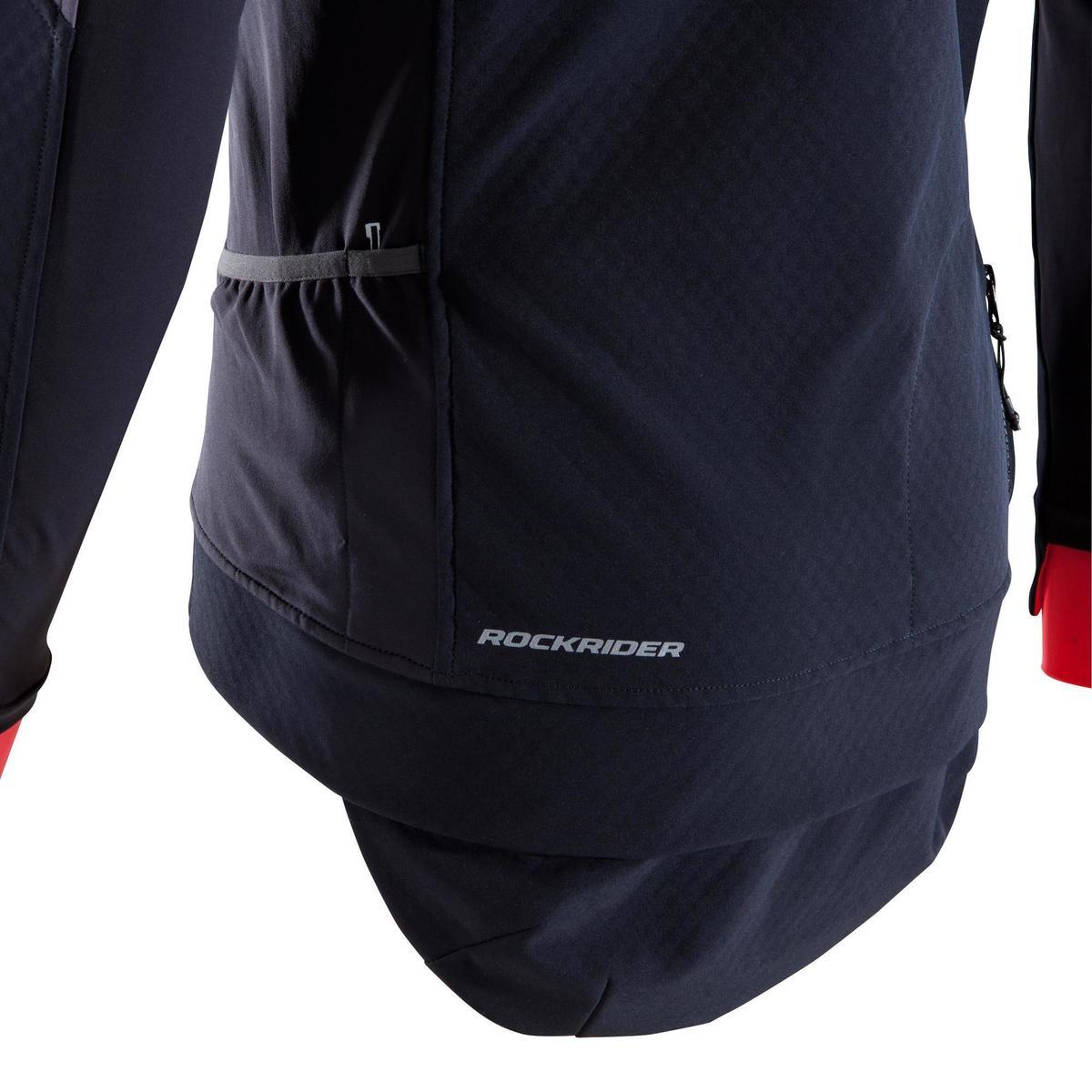 Bild 5 von MTB-Fahrradjacke ST 500 Herren schwarz/neonrot