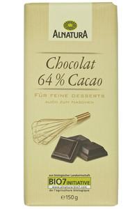 Alnatura Bio Chocolat 64% Kakao 150 g