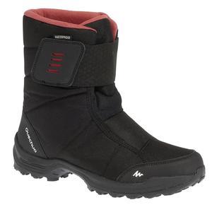 Schneestiefel Winterwandern SH100 X-Warm wasserdicht Damen schwarz