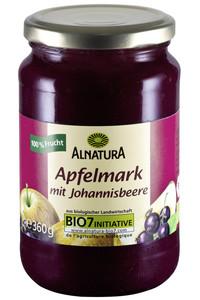 Alnatura Bio Apfelmark mit Johannisbeere  360 g