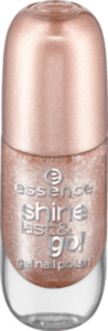 essence cosmetics Nagellack shine last & go! gel nail polish gold 44