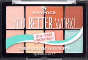 essence cosmetics Concealer you better work! camouflage concealer palette mehrfarbig