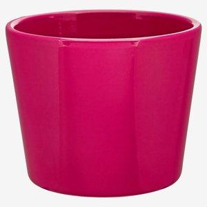 Übertopf Keramik rund cyklamefarben Ø 10 cm