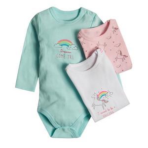 Baby Langarmbody 3er Pack für Mädchen