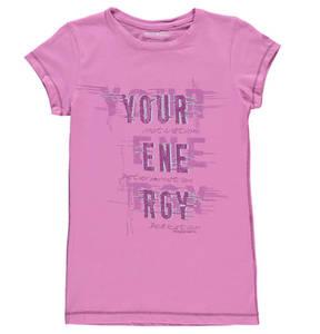 manguun sports             T-Shirt, Print, Baumwoll-Mix, für Mädchen