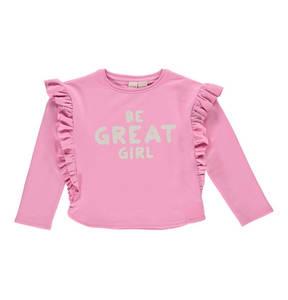 manguun teens             Sweatshirt, Rüschen, Print, Fleecefutter, für Mädchen