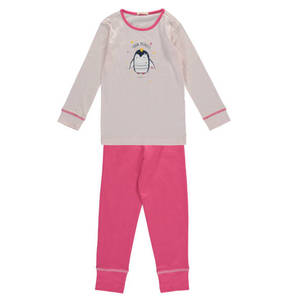ESPRIT             Schlafanzug, lang, Pinguin-Print, für Mädchen