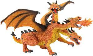 Bullyland Drachen mit 3 Köpfen orange