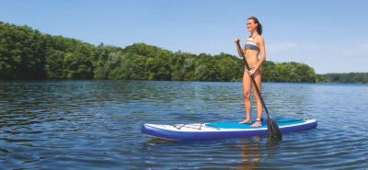 Bild 2 von EASYmaxx Stand-Up Paddle-Board 320cm weiß/blau