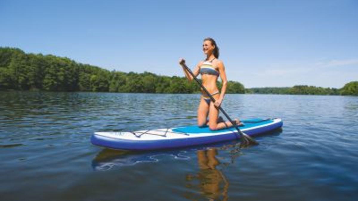 Bild 3 von EASYmaxx Stand-Up Paddle-Board 320cm weiß/blau