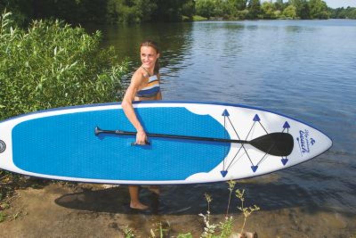 Bild 5 von EASYmaxx Stand-Up Paddle-Board 320cm weiß/blau