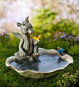"""Vogeltränke """"Gismo"""" mit Solar-Schmetterling"""
