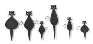 """Mini-Stecker """"Katze"""", 6er-Set"""