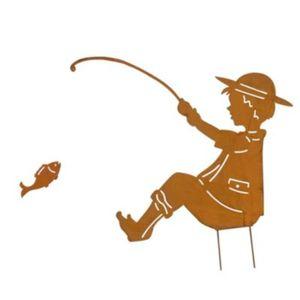 Gartenstecker Angler