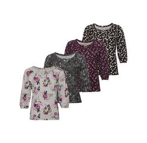 Laura Torelli COLLECTION Damen-Shirt mit floralem Muster