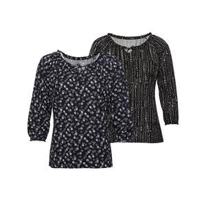 Laura Torelli COLLECTION Damen-Shirt mit Carmen-Ausschnitt