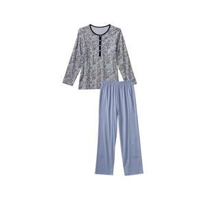 Damen-Schlafanzug mit modischem Muster, 2-teilig