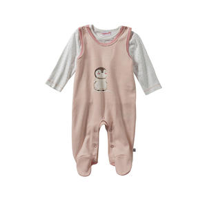 Liegelind Baby-Mädchen-Strampler-Set mit Pünktchen-Muster, 2-teilig