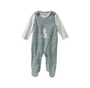 Liegelind Baby-Jungen-Strampler-Set mit Eisbär-Frontaufdruck, 2-teilig