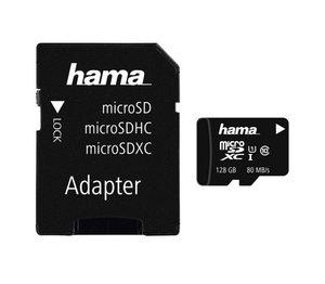 Hama microSDXC 128GB Class 10 UHS-I 80MB/s + Adapter/Mobile