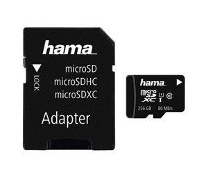 Hama Speicherkarte microSDXC 256GB Class 10 UHS-I 80MB/s »incl. Adapter«