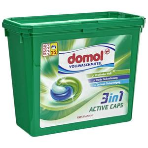 domol Vollwaschmittel 3in1 Active Caps, 22 WL 0.18 EUR/1 WL