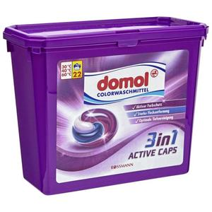 domol Colorwaschmittel 3in1 Active Caps, 22 WL 0.18 EUR/1 WL