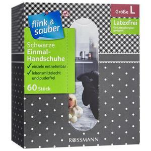 flink & sauber Schwarze Einmal-Handschuhe Gr. L