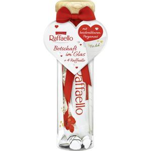 Ferrero Raffaello Botschaft im Glas 12.48 EUR/100 g
