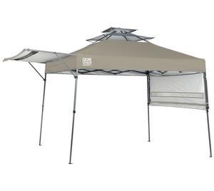 ShelterLogic Faltpavillon Quick Shade taupe inklusive Windauslass 305x305 cm