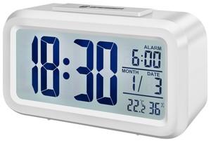 Bresser® MyTime Duo LCD Wecker (Gehäuse weiß)