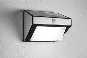 EZSolar LED Solar Wandlampe / Wandleuchte mit Bewegungssensor 650 Lumen