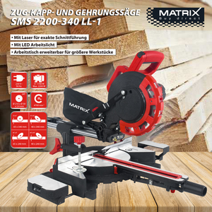 Matrix Zug-/Kapp- und Gehrungssäge mit Laser SMS 2200-340 LL-1 V2