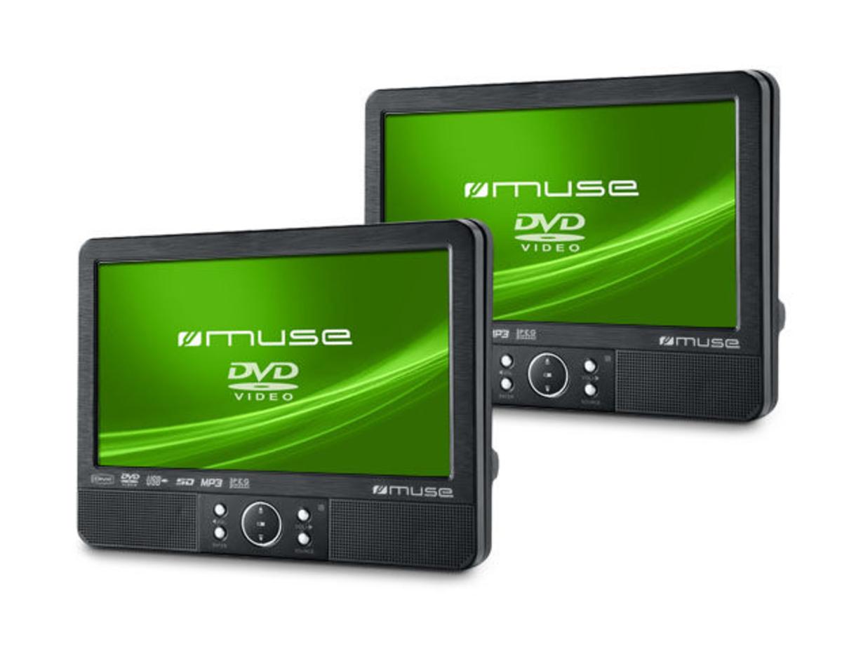 """Bild 1 von Muse tragbare DVD-Player, 2er Set , 9"""" (22,5 cm)"""