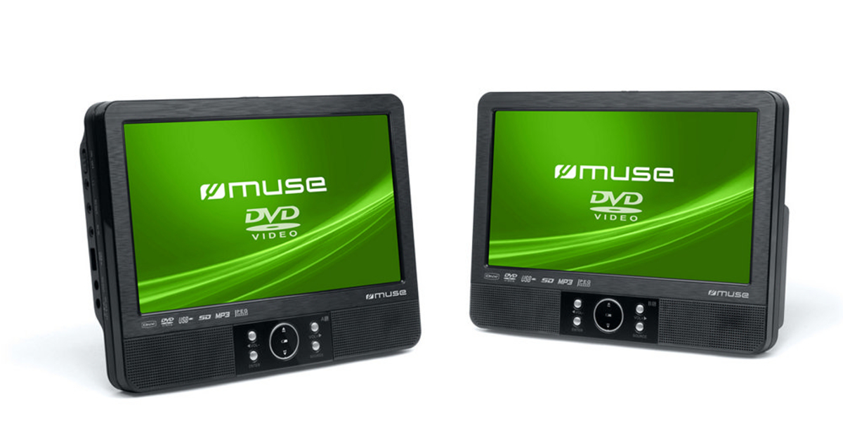 """Bild 4 von Muse tragbare DVD-Player, 2er Set , 9"""" (22,5 cm)"""
