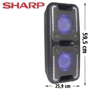 Bluetooth®-Party- Lautsprecher PS-920 mit Radio • Super-Bass-Effekte • 2 USB-/Mikrofon- Anschlüsse • 3,5-mm-Klinken- Anschluss • integr. Akku, inkl. Mikrofon
