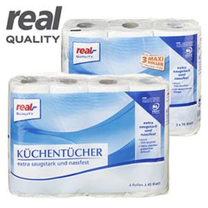 Küchentücher 3 x 70 oder 4 x 45 Blatt, jede Packung