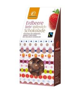 Erdbeeren in Vollmilch Schokolade