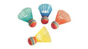 Hudora - Badminton Federbälle, 4 Stück