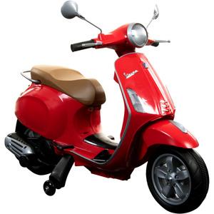 Piaggio Vespa Primavera 6V Kinderfahrzeug Elektro Kinder Scooter ab ca. 3 Jahre, Farbe:rot