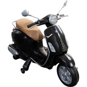 Piaggio Vespa Primavera 6V Kinderfahrzeug Elektro Kinder Scooter ab ca. 3 Jahre, Farbe:Schwarz