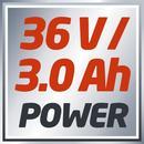 Bild 2 von Einhell Akku-Rasenmäher GC-CM 36/1 Li, Lithium-Ionen Akku 36 V, 3 Ah, Schnittbreite 37 cm, Schnitthöhenverstellung 6-stufig, zentral 25 - 75 mm, 3413115