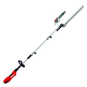 Einhell Elektro Stab-Heckenschere / -Säge GC-HC 9024 T, Leistung 900 Watt, Schwertlänge Kettensäge 20 cm, Schwertlänge Heckenschere 480 mm, 4501280