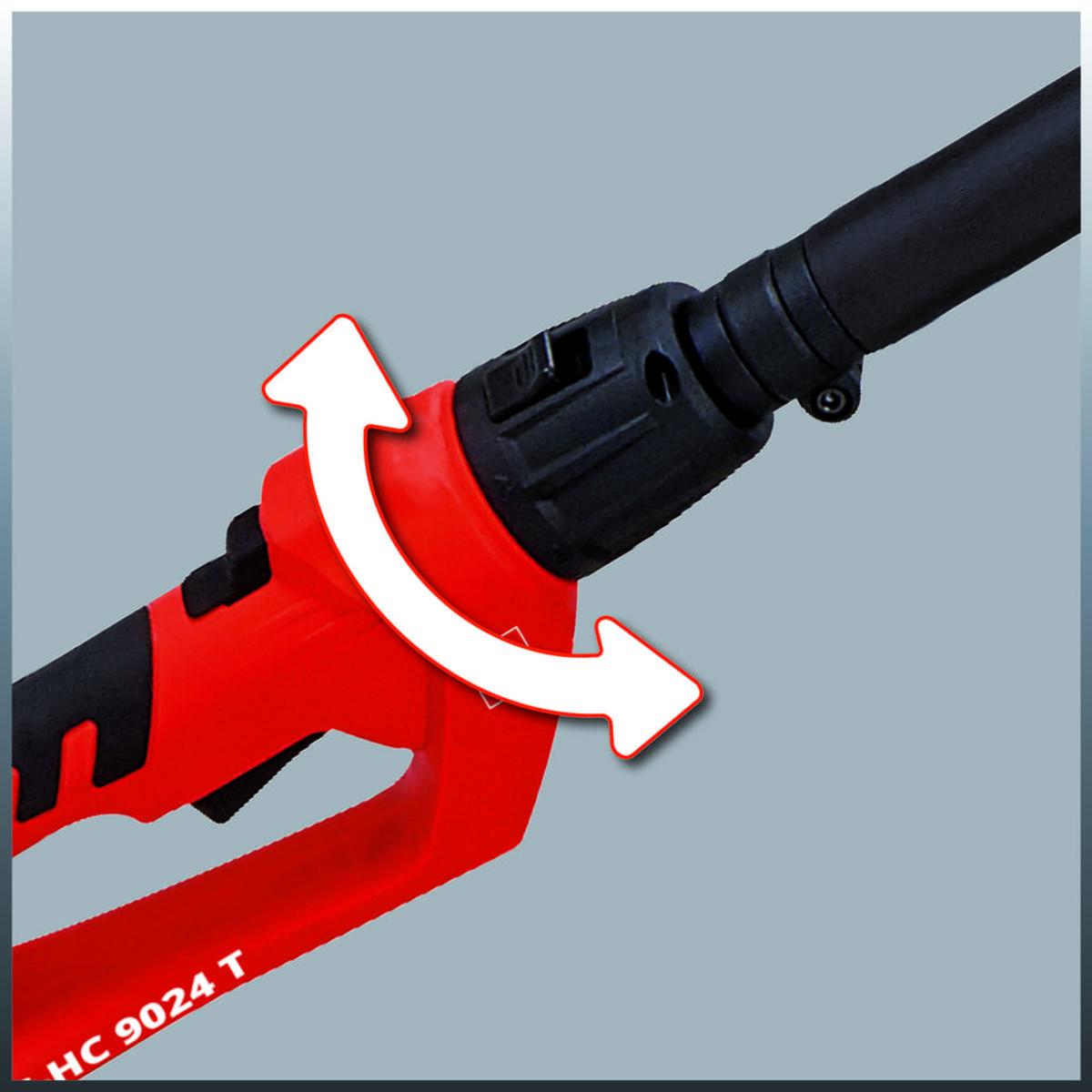 Bild 5 von Einhell Elektro Stab-Heckenschere / -Säge GC-HC 9024 T, Leistung 900 Watt, Schwertlänge Kettensäge 20 cm, Schwertlänge Heckenschere 480 mm, 4501280