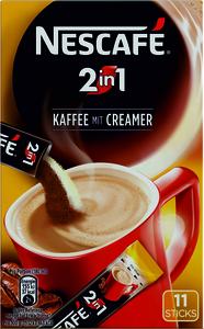 Nescafé 2in1 Kaffee mit Creamer | 11 Sticks