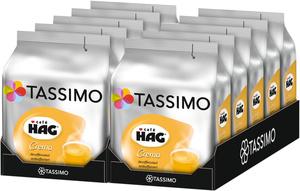 Tassimo Café Hag Crema  entkoffeiniert   10 Packungen á 16 T Discs