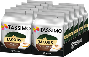 Tassimo Jacobs Cappuccino Classico | 10 Packungen á 8 T Discs