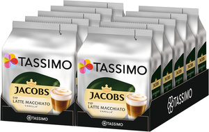 Tassimo Jacobs Latte Macchiato Vanilla   10 Packungen á 8 T Discs